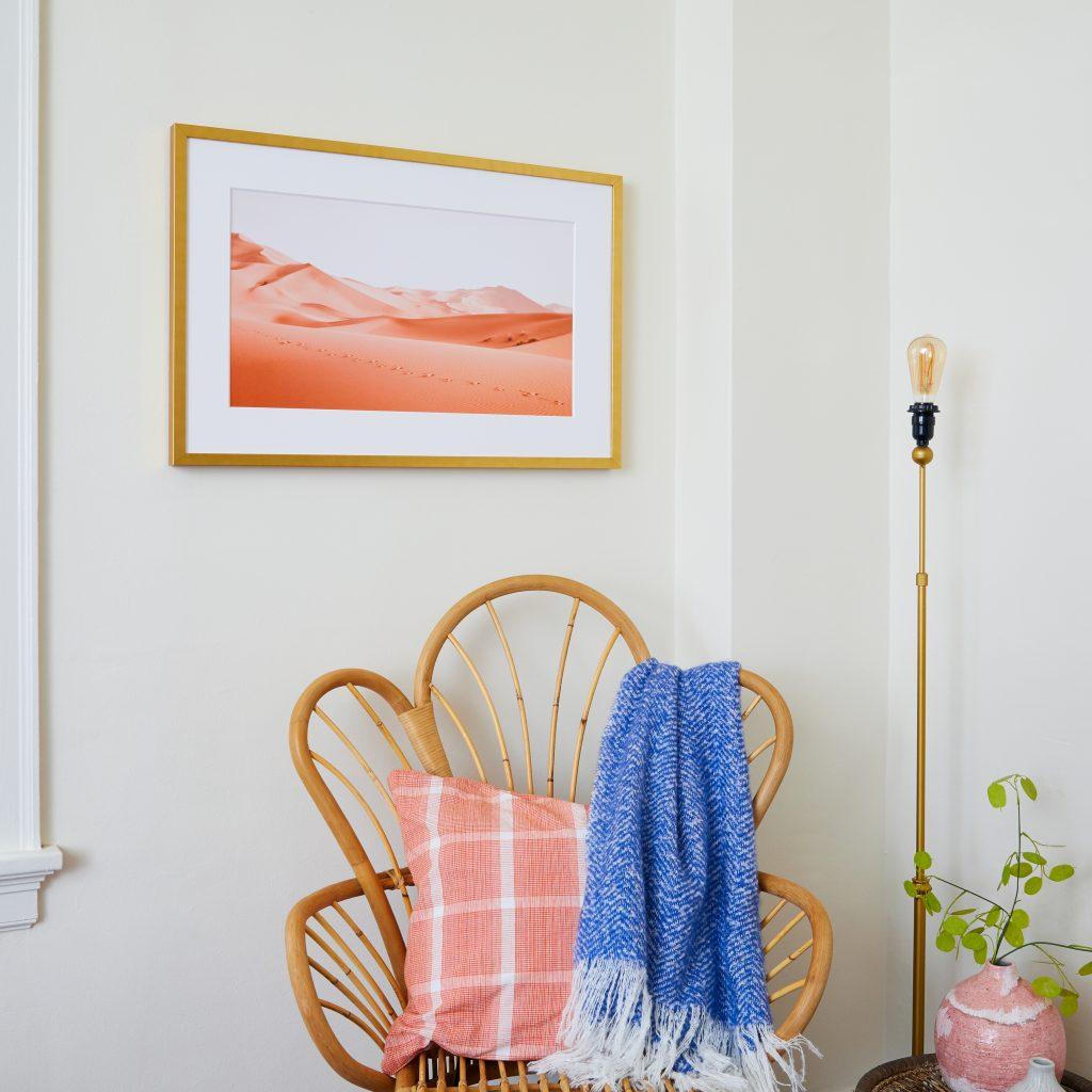 Framed Art Above Chair