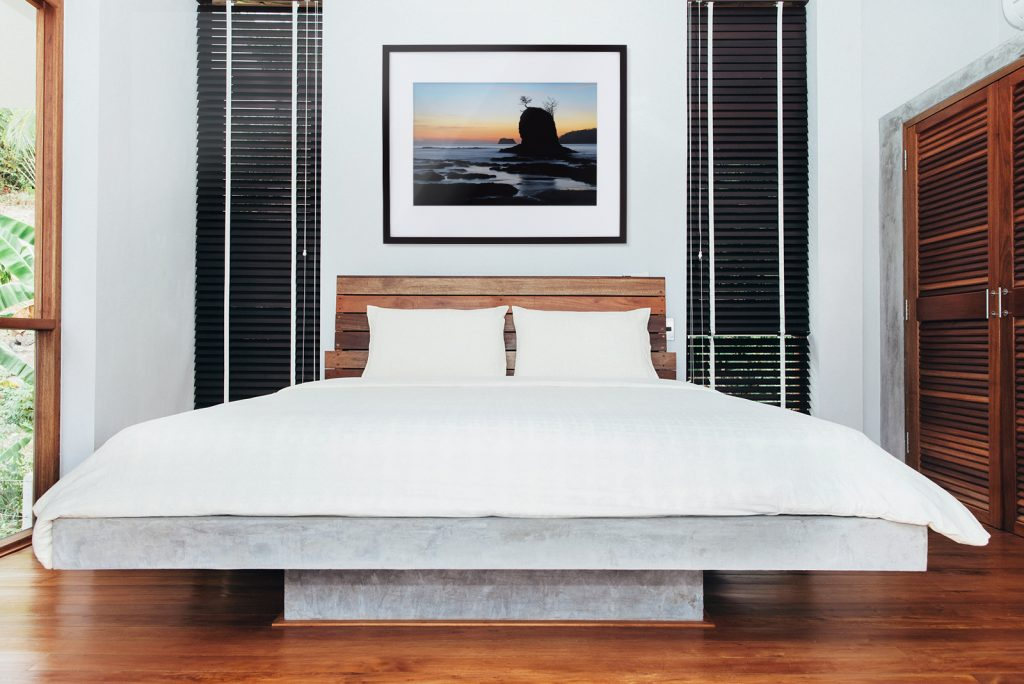 Hanging Art Above Bed